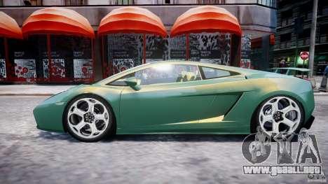 Lamborghini Gallardo para GTA 4 vista desde abajo