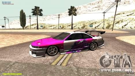 Nissan Silvia S14 kuoki RDS para GTA San Andreas left