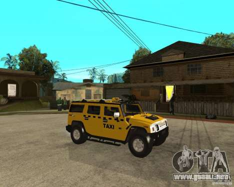 AMG H2 HUMMER TAXI para la visión correcta GTA San Andreas