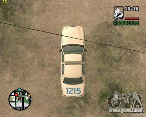 Ford Crown Victoria Baltmore County Police para GTA San Andreas vista hacia atrás