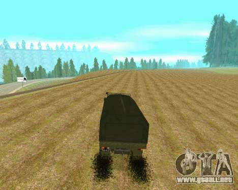 KAMAZ-6350 para la visión correcta GTA San Andreas