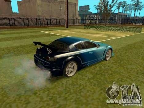 Mazda RX-8 VeilSide from Tojyo Drift para GTA San Andreas vista posterior izquierda