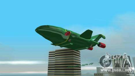 ThunderBird 2 para GTA Vice City vista posterior