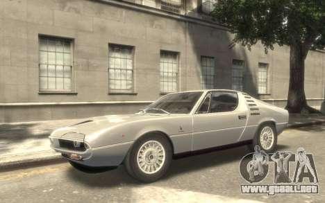 Alfa Romeo Montreal 1970 para GTA 4 vista hacia atrás
