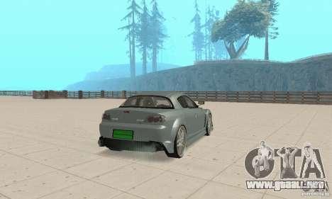 Mazda RX-8 Tuning para la visión correcta GTA San Andreas