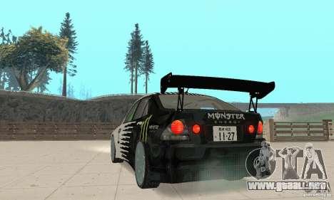 Lexus IS300 Drift Style para GTA San Andreas left