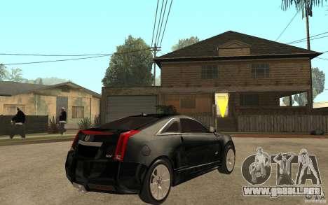 Cadillac CTS V Coupe 2011 para la visión correcta GTA San Andreas