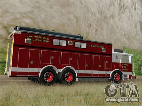 Pierce Walk-in SFFD Heavy Rescue para GTA San Andreas