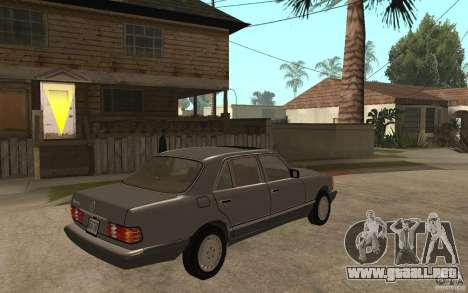 Mercedes Benz W126 560 1990 para la visión correcta GTA San Andreas