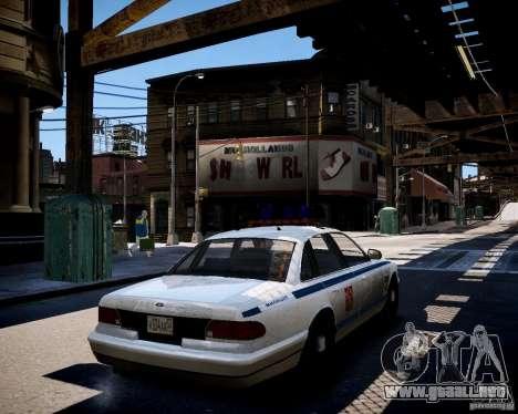 Russian Police Cruiser para GTA 4 Vista posterior izquierda