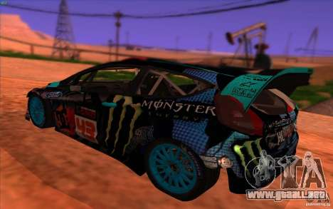 Ford Fiesta H.F.H.V. Ken Block 2013 para GTA San Andreas left