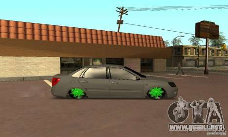 Lada Granta Dag Style para GTA San Andreas vista posterior izquierda