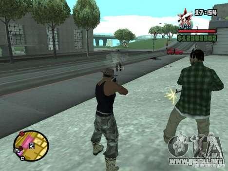 Un guardia de seguridad para el CJ con miniganom para GTA San Andreas