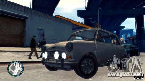 Mini Cooper S para GTA 4 vista hacia atrás