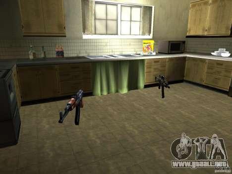 Pak versión doméstica armas 2 para GTA San Andreas octavo de pantalla