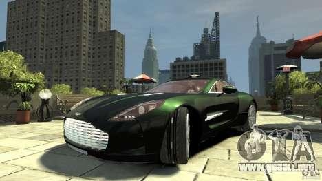 Aston Martin One-77 [EPM] para GTA 4 vista hacia atrás