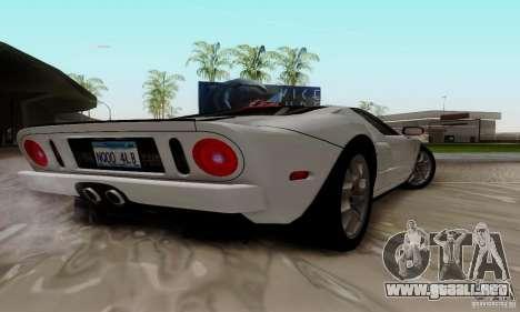 Ford GT 2005 para GTA San Andreas vista hacia atrás