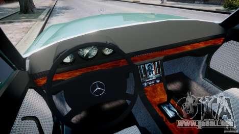 Mercedes-Benz 280SE W116 para GTA 4 vista hacia atrás