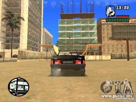VAZ 2108 Convertible para GTA San Andreas vista posterior izquierda
