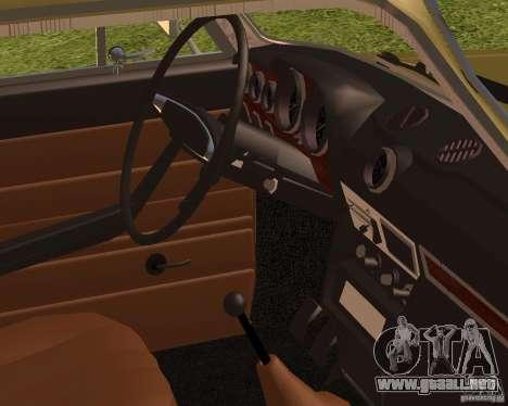 2106 VAZ retro para GTA San Andreas vista posterior izquierda