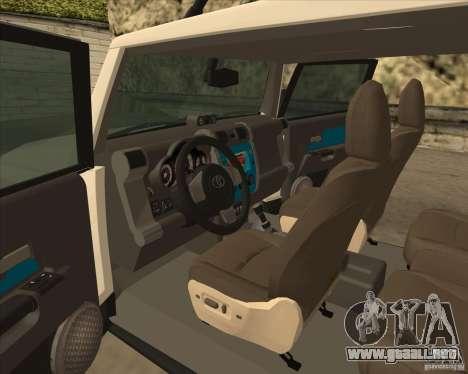 Toyota FJ Cruiser para vista lateral GTA San Andreas
