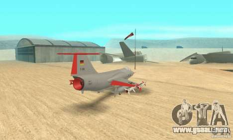 F-104 Starfighter Super (gris) para GTA San Andreas left