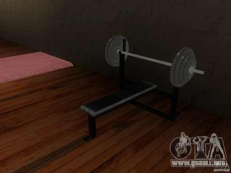 Nuevos pesas en el gimnasio para GTA San Andreas