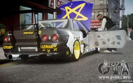 Nissan Skyline R32 FST Drift Korch para GTA 4 vista hacia atrás