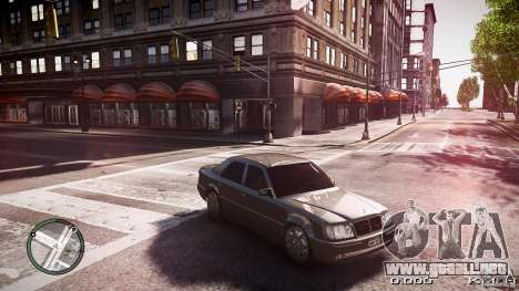 Mercedes Benz W124 E500 para GTA 4 Vista posterior izquierda