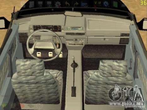 VAZ 2108 Convertible para GTA San Andreas vista hacia atrás