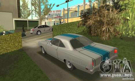 Plymouth Roadrunner 383 para visión interna GTA San Andreas
