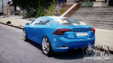 Volvo S60 Concept para GTA 4 Vista posterior izquierda