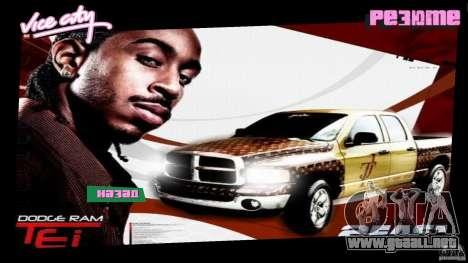 2 Fast 2 Furious Menu Ludacris para GTA Vice City segunda pantalla