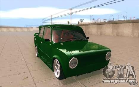 Deporte Lada VAZ-2101 para GTA San Andreas vista hacia atrás