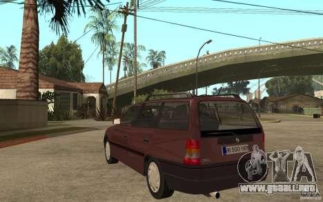 Opel Astra SW 1.6 1994 para GTA San Andreas vista posterior izquierda