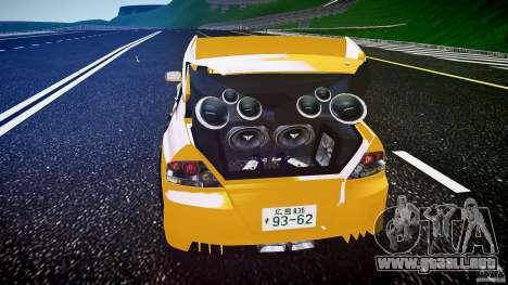 Mitsubishi Lancer Evolution para GTA 4 vista desde abajo