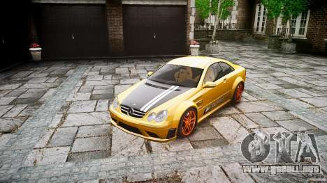 Mercedes Benz CLK63 AMG Black Series 2007 para GTA 4