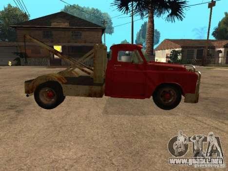 Camioneta Dodge está oxidado para visión interna GTA San Andreas