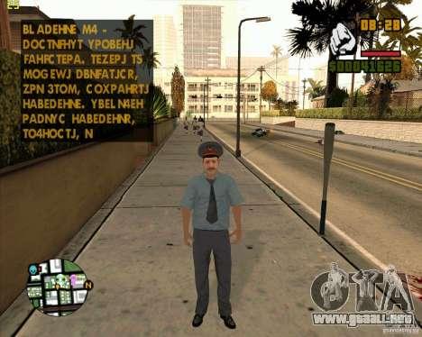 Policía rusa piel para GTA San Andreas tercera pantalla