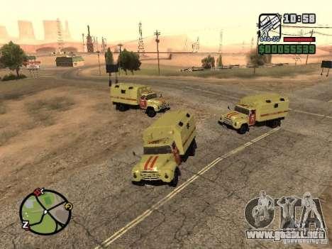 ZIL 130 Gorsvet de reloj de la noche para GTA San Andreas left