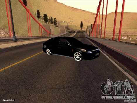 Lada 2170 Priora para la vista superior GTA San Andreas