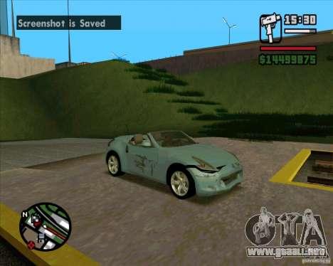 Nissan 370Z Roadster para la visión correcta GTA San Andreas