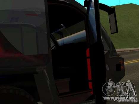 MAN Rosenbauer para GTA San Andreas vista hacia atrás
