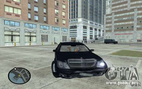Maybach 62 para la visión correcta GTA San Andreas