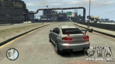 Mitsubishi Lancer Evo X Drift para GTA 4 vista hacia atrás