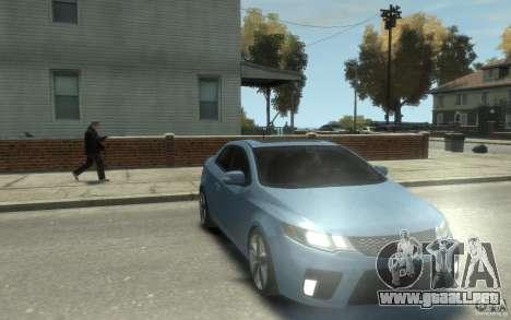 Kia Forte Koup SX para GTA 4 vista hacia atrás