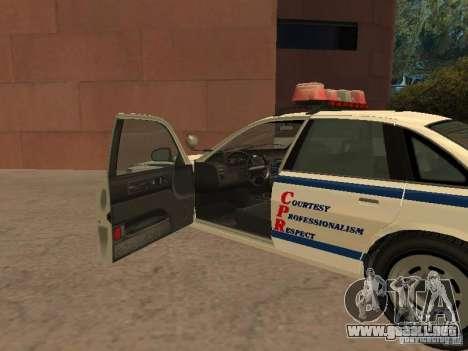 La policía de GTA4 para GTA San Andreas vista hacia atrás