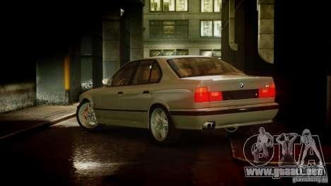BMW M5 (E34) 1995 v1.0 para GTA 4 Vista posterior izquierda