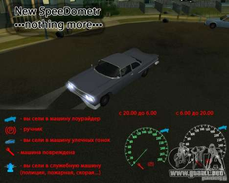 Speedometer nothing more para GTA San Andreas
