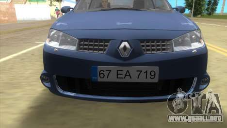 Renault Megane Sport para GTA Vice City left